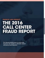 2016 Call Center Fraud Report