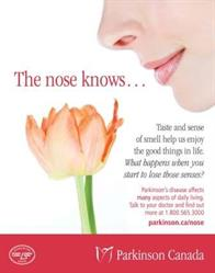 Parkinsons Canada Nose Knows LCBO poster - female