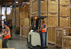 Crates ready for shipping around the world