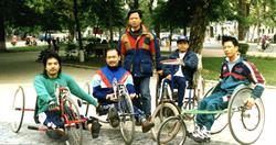 Vietnam hand cycle team in 1998