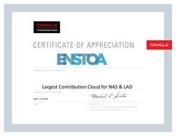 Enstoa Award Certificate