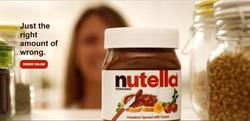 Nutella ad served on Goodblock