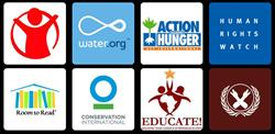 Logos of Gladly Partner Charities