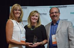HouseMaster Franchise Owners Pam and Tony Carrazzo with HouseMaster President, Kathleen Kuhn (center).