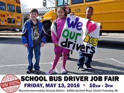 Macomb County School Bus Driver Job Fair