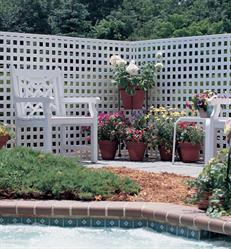Lattice is perfect for adding unique details to a home, garden, or pool area.