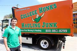 Trent Lott owns College H.U.N.K.S. Hauling Junk and Moving of Central Florida. He opened the business this Spring.