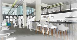 RocketSpace's London campus will have an onsite cafe and numerous collaboration spaces.