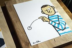 Artwork by Jean Jullien with the French expression: Jeter un oeil