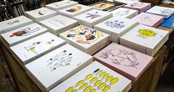 Collection of Letterpress prints that will be displayed in Paris France