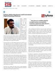 Tyfone named top 10 mobile banking solution provider