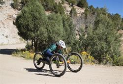 Downhill Hand Cycle Action in Colorado