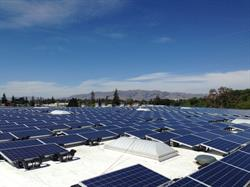 SilRay Solar panels on the roof of the Leadman Electronic building