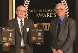 Glenroy Accepting Flexible Packaging Printing Awards from Great Lakes Graphics Association