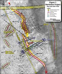 Fig 1: Bug Lake Plan Map & Drilling, June 8, 2016