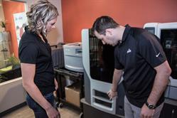 Calgary Javelin Liz with 3D printer