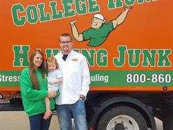 Amber Bush and Corey Gaither recently opened a College H.U.N.K.S. Hauling Junk and Moving franchise in Mansfield, Texas.