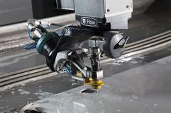 Flow waterjet cutting aluminum