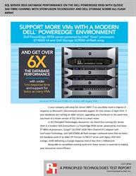 Run more VMs with Microsoft SQL Server 2016 using the Dell PowerEdge R930 powered by Intel