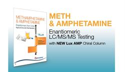 Each batch of Lux AMP is LC/MS tested for the chiral separation of amphetamine and methamphetamine enantiomers.