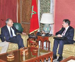 US Deputy Secretary of State Antony Blinken meets with Moroccan Minister of Foreign Affairs and Cooperation Salaheddine Mezouar in Morocco on Wednesday, July 20, 2016.