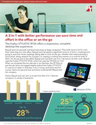 The Fujitsu STYLISTIC R726 can help boost productivity on the go or in the office