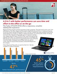 See how the Fujitsu STYLISTIC R726 can boost employee productivity