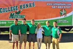 The College H.U.N.K.S. Hauling Junk team in Edmonton.