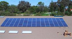 SilRay installed 105 solar panels on the roof of St. Nicholas Catholic School