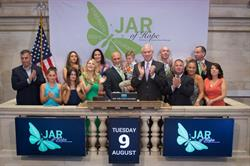 JAR of Hope Board of Directors, Headed by Founder and CEO, Jim Raffone, Ring Closing Bell at NYSE
