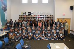 FIELD students and speakers with Minor League Baseball staff at Minor League Baseball headquarters in St. Petersburg, Florida.