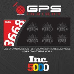 Fleet Tracking company, GPS Insight, ranks on Inc. 5000