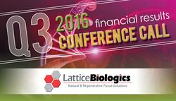 Lattice Biologics Q3 2016 Earnings Call