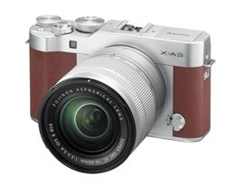 Fujifilm X-A3 Mirrorless Digital Camera with 16-50mm Lens - Brown