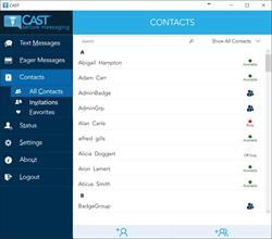 Critical Alert Desktop Client for Secure Text Messaging & Paging