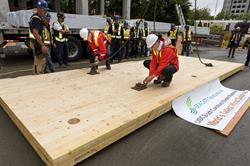 World's Tallest Timber Building Getting 'Hooked Up' by Fast+Epp
