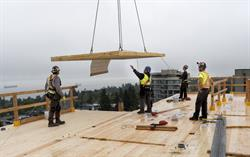 World's Tallest Timber Building - Final Wood Panel Installed