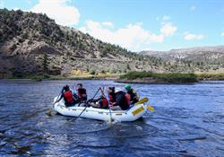 Rafting on the Colorado River in 2015.
