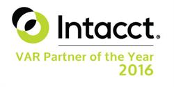 Intacct VAR Partner of the Year 2016