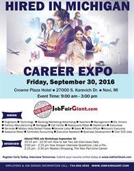 Metro Detroit Job Expo - September 30, 2016