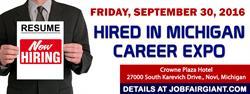 Michigan Job Fair - September 30, 2016