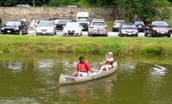 Paddling on the C & O Canal.