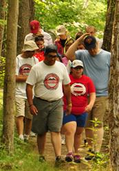 Hiking at the 2014 Adventure Team Challenge DC