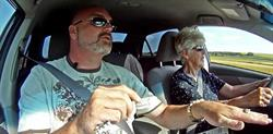 Calgary driving school teaches 86-year-old woman to drive.