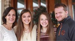 Brent Bailey with his family, from left: Sue, Abby and Maddy.