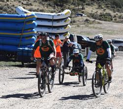 A team finishes at the 2015 Adventure Team Challenge Colorado