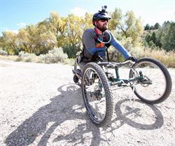 A hand cyclist at the 2015 Adventure Team Challenge Colorado