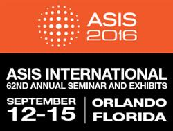 ASIS 2016 takes place Sept 12-15 in Orlando