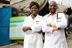 Two members of the Access Afya team. Photo credit: Access Afya.