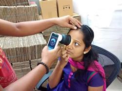 Using the Biosense TouchHb device. Photo credit: Biosense.
